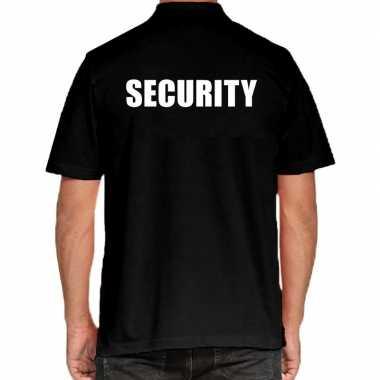 Security grote maten polo zwart heren t-shirt kopen