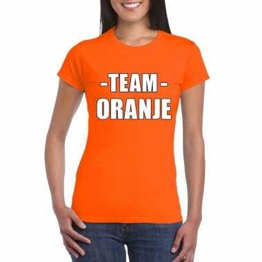 Sportdag team oranje dames t-shirt kopen