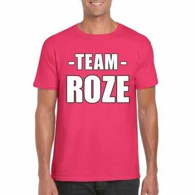 Sportdag team roze heren t-shirt