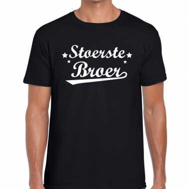 Stoerste broer cadeau zwart heren t-shirt