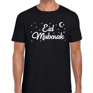 Suikerfeest eid mubarak zwart heren t-shirt