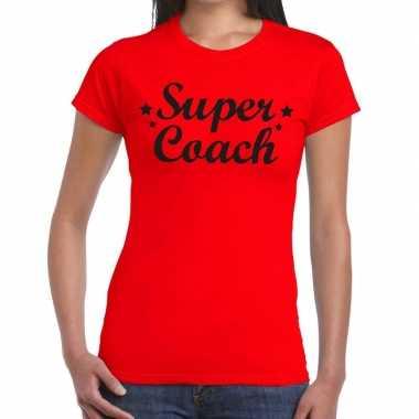 Super coach cadeau rood dames t-shirt kopen