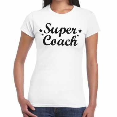 Super coach cadeau wit dames t-shirt kopen