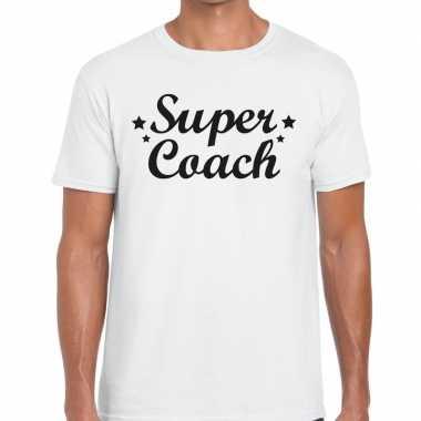 Super coach cadeau wit heren t-shirt kopen