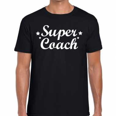 Super coach cadeau zwart heren t-shirt kopen