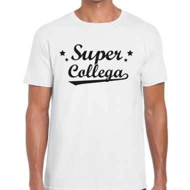 Super collega cadeau wit heren t-shirt kopen