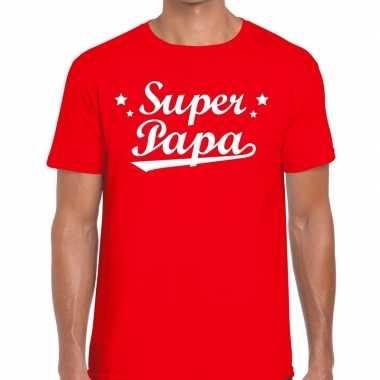 Super papa cadeau rood heren t-shirt kopen