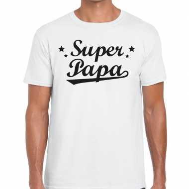 Super papa cadeau wit heren t-shirt kopen