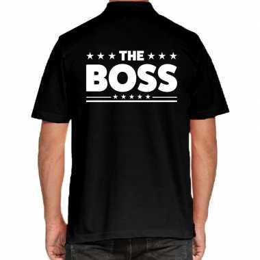 The boss polo zwart heren t-shirt kopen
