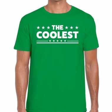 The coolest tekst groen heren t-shirt kopen