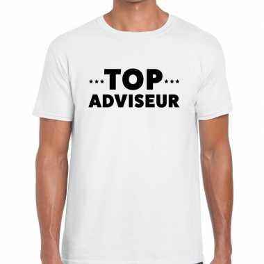 Top adviseur beurs/evenementen wit heren t-shirt kopen