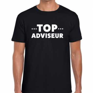 Top adviseur beurs/evenementen zwart heren t-shirt kopen