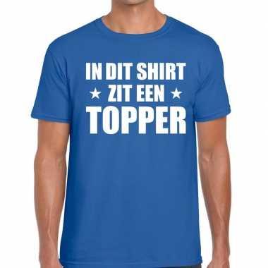 Toppers di zit een topper blauw heren t-shirt kopen