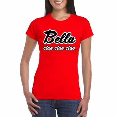 Toppers rood bella ciao dames t-shirt