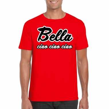 Toppers rood bella ciao heren t-shirt
