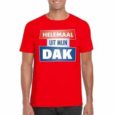 Toppers rood helemaal uit mijn dak heren t-shirt kopen