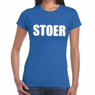 Toppers stoer tekst blauw dames t-shirt kopen