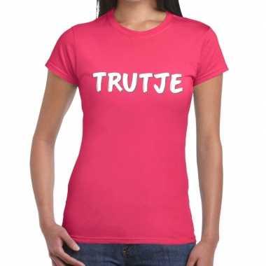 Trutje tekst roze dames t-shirt kopen