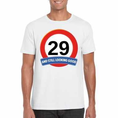 Verkeersbord jaar wit heren t-shirt kopen