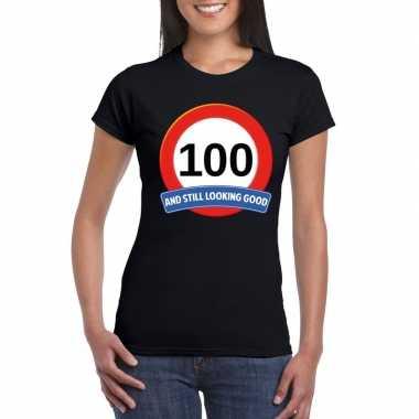 Verkeersbord jaar zwart dames t-shirt kopen