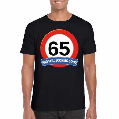 Verkeersbord jaar zwart volwassenen t-shirt 10107043