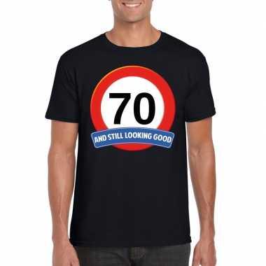 Verkeersbord jaar zwart volwassenen t-shirt 10107044