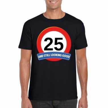 Verkeersbord jaar zwart volwassenen t-shirt