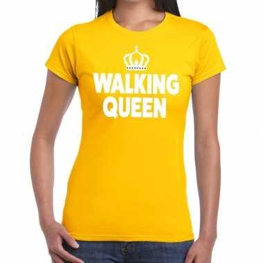Wandel walking queen geel dames t-shirt kopen