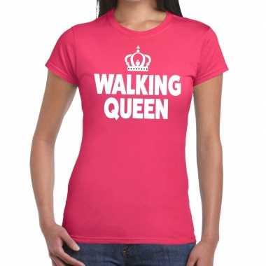Wandel walking queen roze dames t-shirt kopen