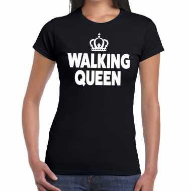 Wandel walking queen zwart dames t-shirt kopen