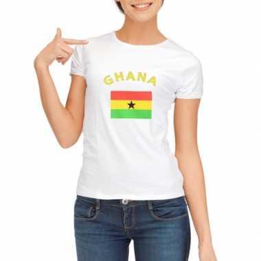 Wit dames Ghana t-shirt kopen
