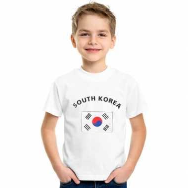 Wit kinder zuid korea t-shirt