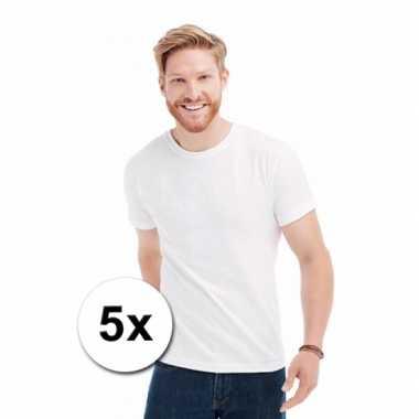 X witte s ronde hals t-shirt