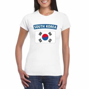 Zuid koreaanse vlag wit dames t-shirt