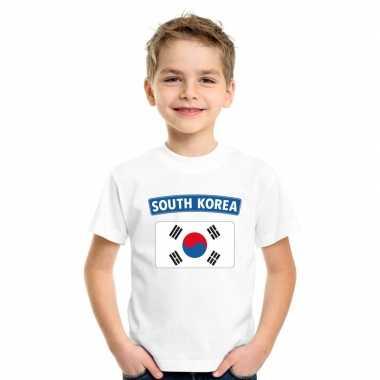 Zuid koreaanse vlag wit kinderen t-shirt