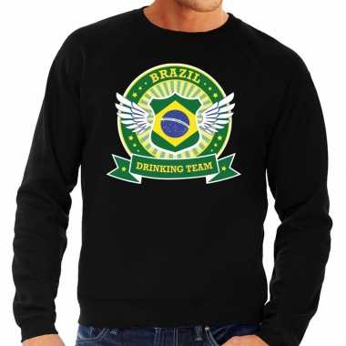 Zwart brazil drinking team sweater heren t-shirt kopen