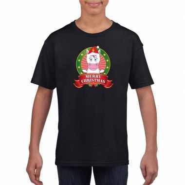 Zwart kerst kinderen een eenhoorn t-shirt kopen