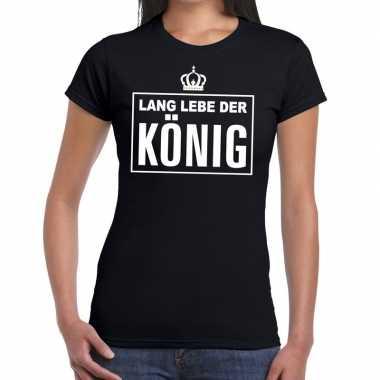 Zwart lang lebe der konig duits dames t-shirt kopen