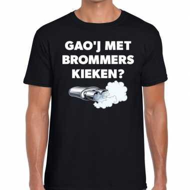 Zwarte cross gaoj brommers kieken festival zwart her t-shirt kopen