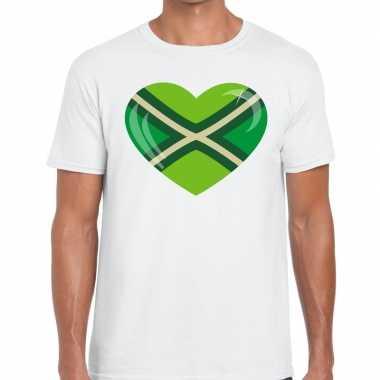 Zwarte cross i love achterhoek festival wit heren t-shirt kopen