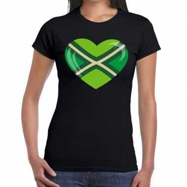 Zwarte cross i love achterhoek festival zwart dames t-shirt kopen