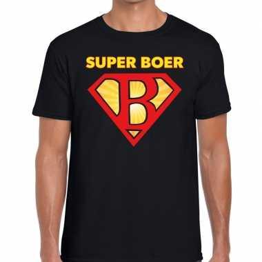 Zwarte cross super boer festival zwart heren t-shirt kopen
