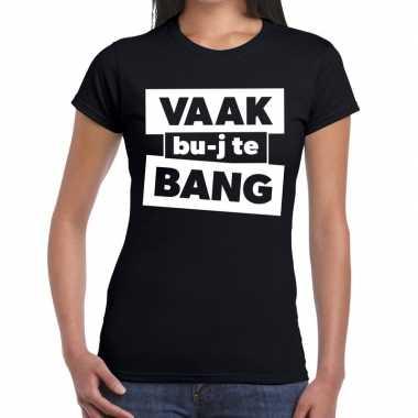 Zwarte cross vaak bujte bang festival zwart dames t-shirt kopen