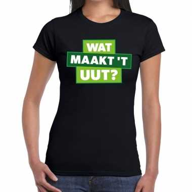 Zwarte cross wat maakt t uut zwart festival dames t-shirt kopen