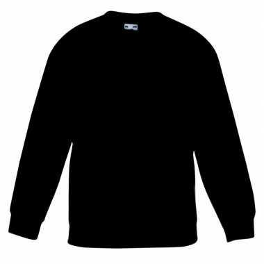 Zwarte katoenmix sweater meisjes t-shirt kopen