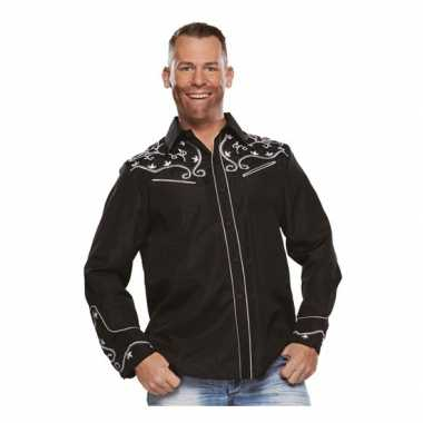 Zwarte western blouse heren t-shirt kopen