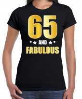And fabulous verjaardag cadeau goud jaar zwart dames t-shirt 10232865