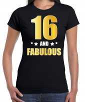 And fabulous verjaardag cadeau goud jaar zwart dames t-shirt