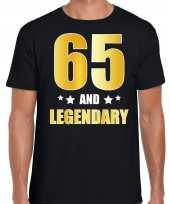 And legendary verjaardag cadeau goud jaar zwart heren t-shirt 10232775