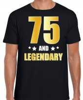 And legendary verjaardag cadeau goud jaar zwart heren t-shirt 10232785